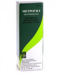 Метрогил, р-р для в/в введ. 5 мг/мл 100 мл №1 флаконы