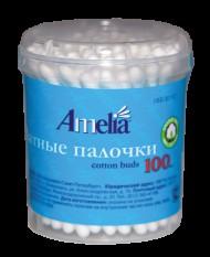 Ватные палочки, Амелия №100 пласт. упаковка
