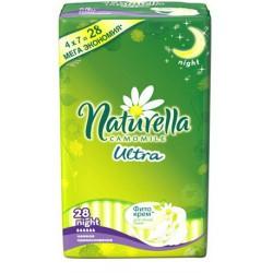 Прокладки женские, Натурелла ультра найт ночные №28