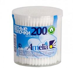 Ватные палочки, Амелия №200 пласт. упаковка